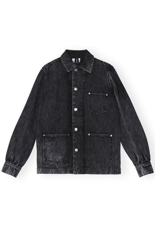 Washed Denim Shirt in Phantom