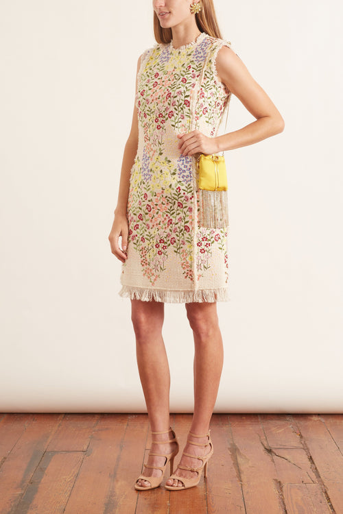 Embroidery Dress in Ivoire/Gilly Flowers