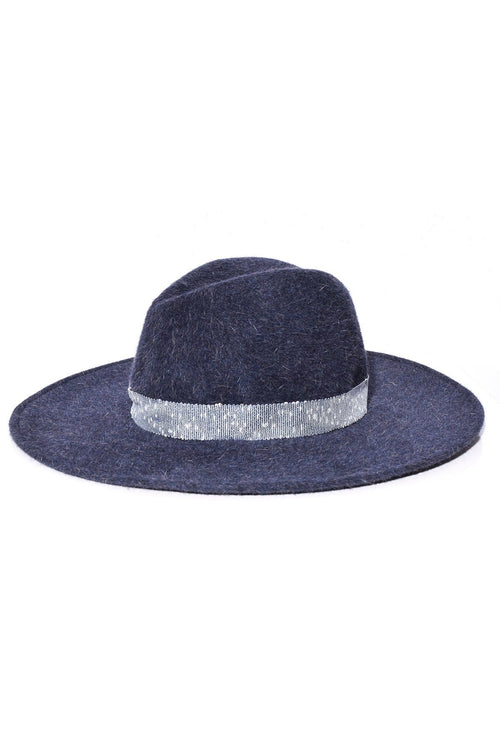 Jeanne Hat in Indigo