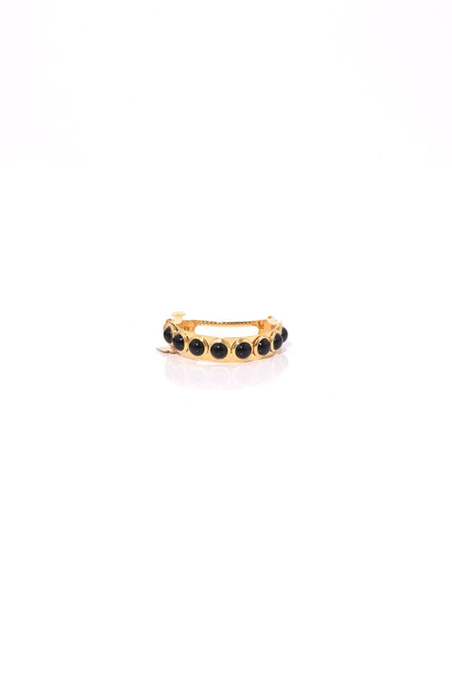 Maura Barrette in Gold/Black