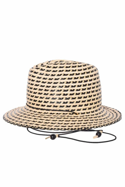 Pacific Hat in Natural/Black