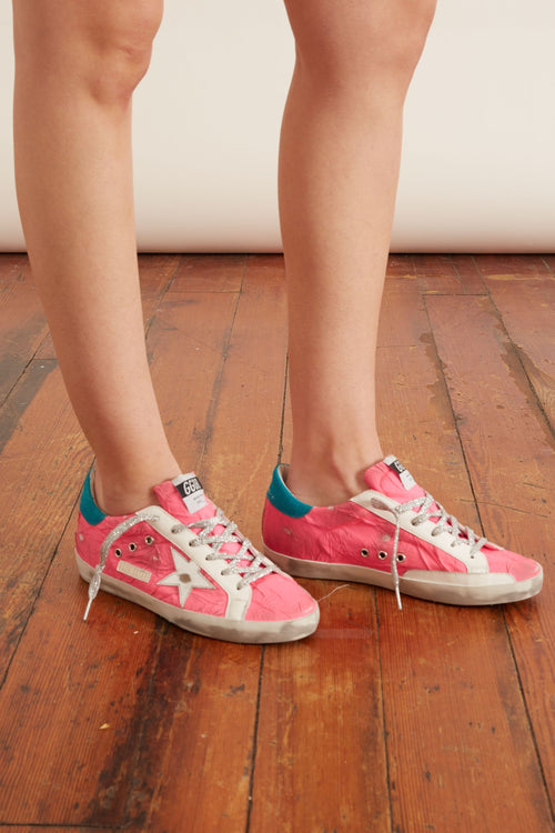 Superstar Sneaker in Fuchsia/Silver/Turquoise