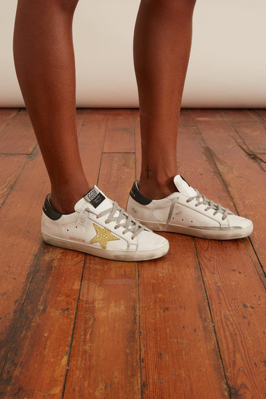Superstar Sneaker in White/Sun Yellow/Black