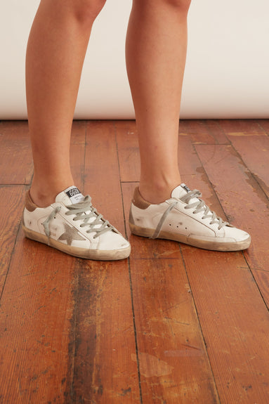 Superstar Sneakers in White/Ice/Sand
