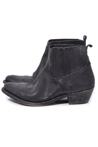 Crosby Boot in Black Leather