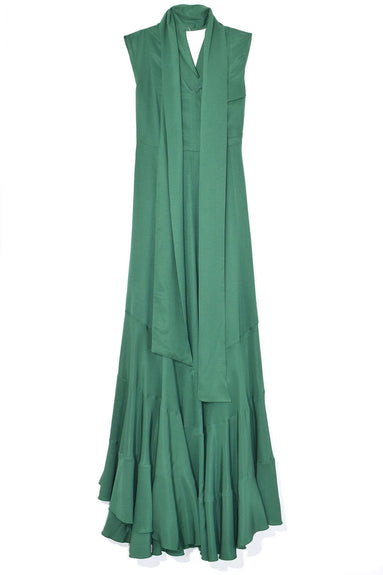 Daisy Dress in Forrest Green