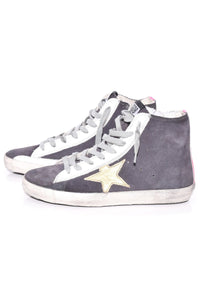 Francy Sneakers in Asphalt Suede/Fuchsia/Gold Star