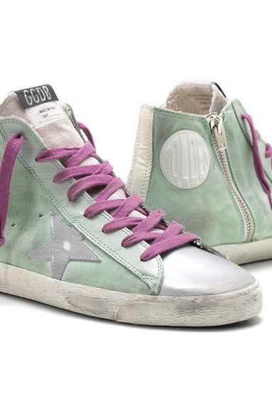Francy Sneakers in Mint Suede/Silver Star