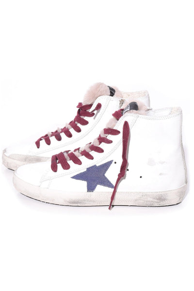 Francy Sneakers in White/Navy Star/Fur