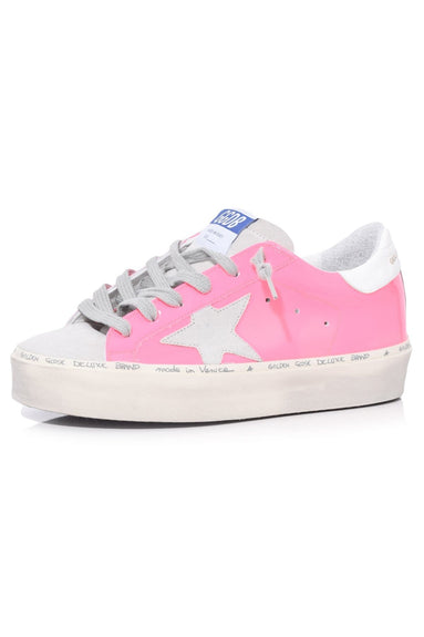 Hi Star Sneakers in Pink Fluo Leather