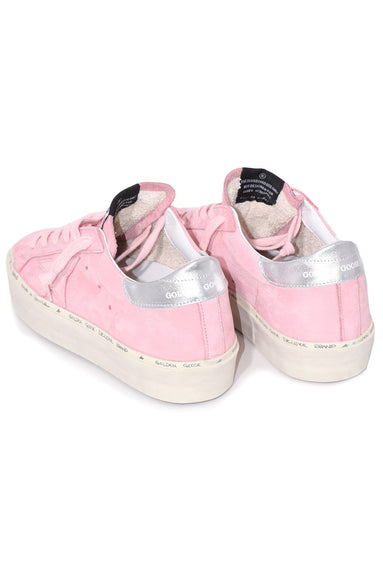 Hi Star Sneakers in Powder Nabuk with Silver Stripe