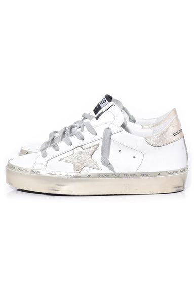 Hi Star Sneakers in White/Gold Sparkle