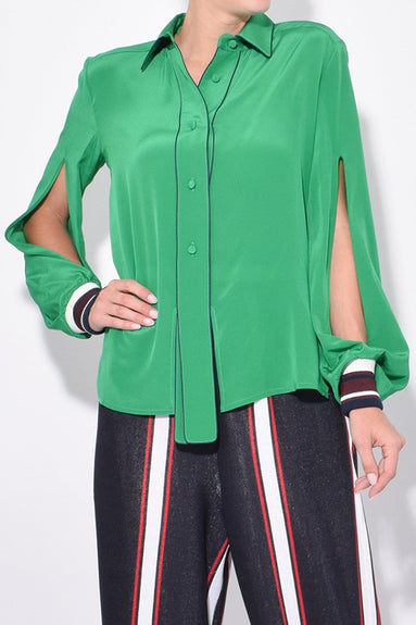 Isako Shirt in Brilliant Green