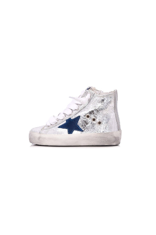 Kids Francy Sneaker in Igloo Leather/Blue Star