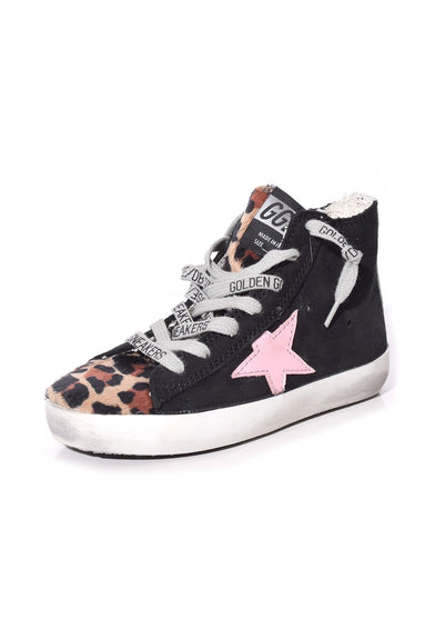 Kids Francy Sneakers in Black Nabuk/Leopard