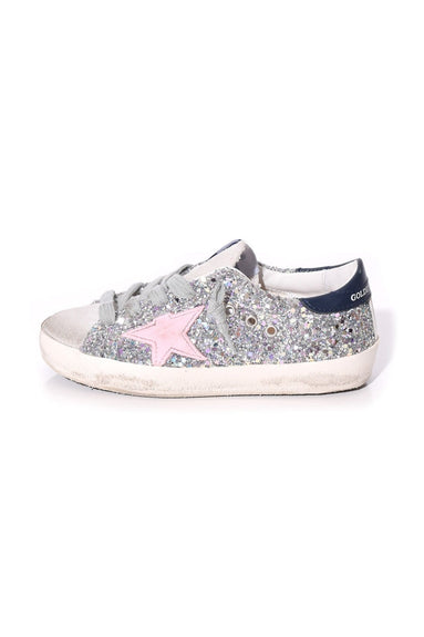 Kids Superstar Sneaker in Romantic Glitter/Pink Star