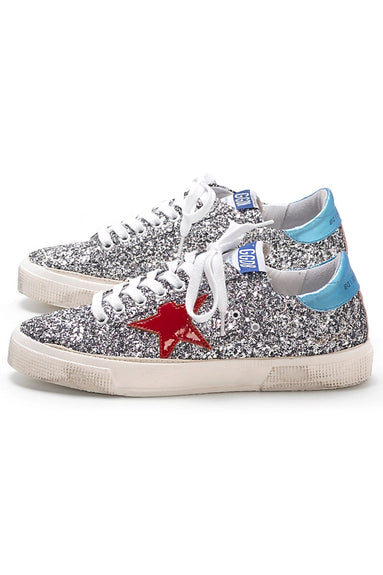 May Sneakers in Glitter/Red Star