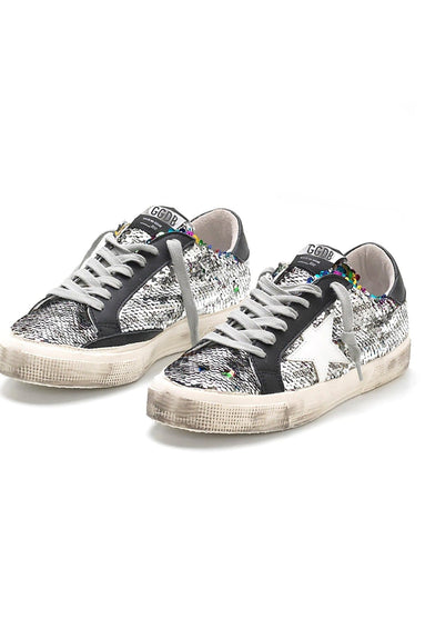 May Sneakers in Rainbow Paillettes