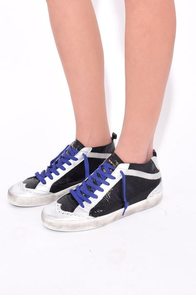 Mid Star Sneakers in Double Black Leather/Skate