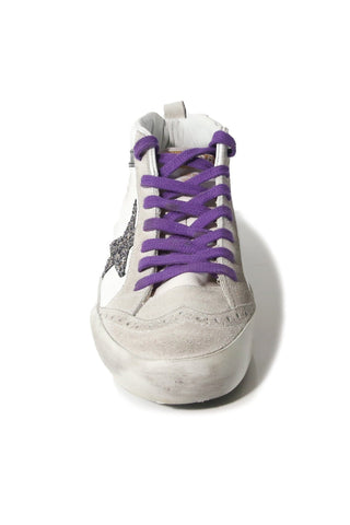 Mid Star Sneakers in Ice Suede/Cocco Glitter Star