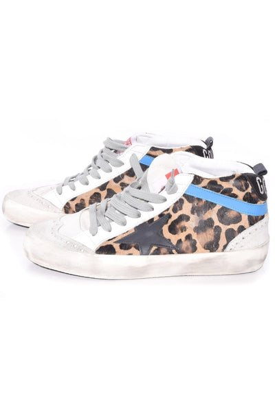 Mid Star Sneakers in Leopard Pony/Black Star