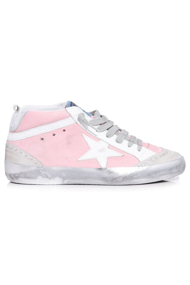 Mid Star Sneakers in Pink Nabuk/White Star