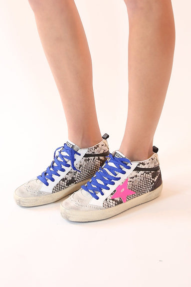 Mid Star Sneakers in Rock Snake/Fuxia Star