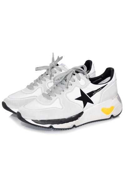 Running Sneakers in White Lycra/Black Star