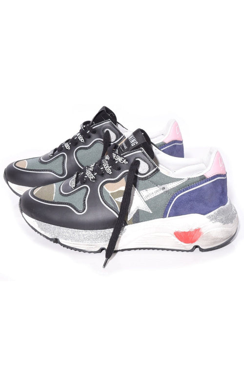 Running Sole Sneakers in Camouflage/Baby Pink