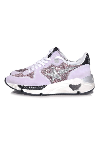Running Sole Sneakers in Pink/Silver Glitter