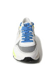 Running Sole Sneakers in White Leather/Camo/White Star