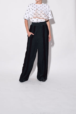 Sophie Pant in Black/Green