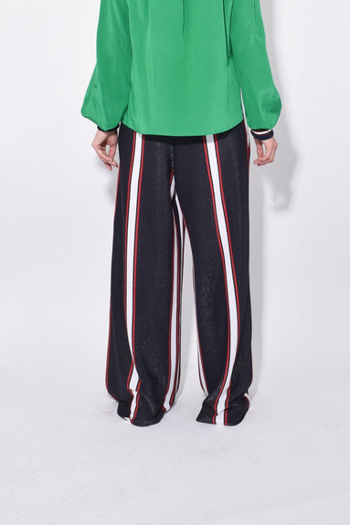 Sophie Pant in Navy/White/Red Stripes
