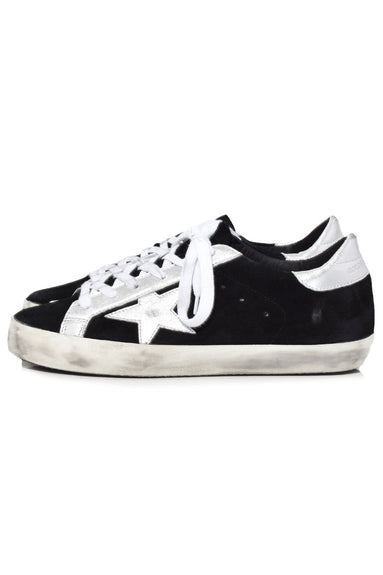 Superstar Sneakers in Black Suede/Silver Star