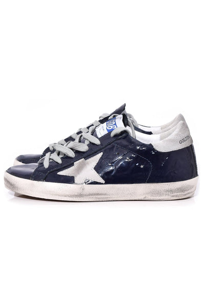 Superstar Sneakers in Blue Wave Leather/Ice Star