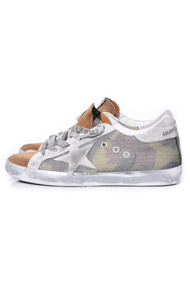 Superstar Sneakers in Camouflage/Coffee Suede