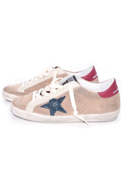 Superstar Sneakers in Desert Suede/Blue Glitter Star