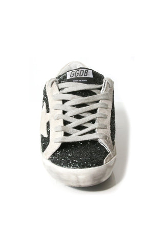 Superstar Sneakers in Green Glitter/Signature