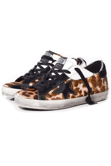 Superstar Sneakers in Leopard Patch/Black Star