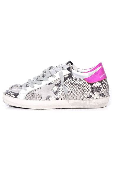 Superstar Sneakers in Natural Snake Print/Ice Star