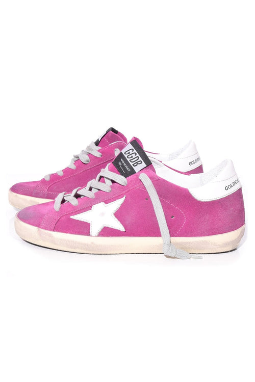 Superstar Sneakers in Violet Suede/White Star