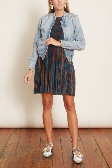 Astrid Mini Dress in Stripe Tahitian Tide/Cinnamon
