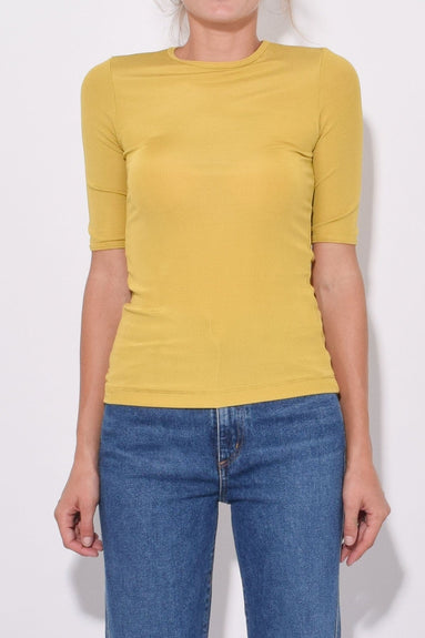 The Bound Sleeve T-Shirt in Ochre