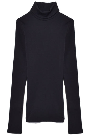 The Rib Turtleneck in Black