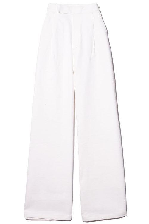 The Ultra Wide Leg Trouser in Pearl