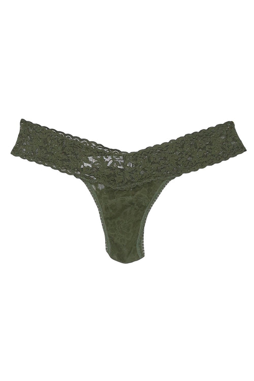 Low Rise Thong in Woodland Green