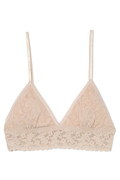 Padded Triangle Bralette in Chai
