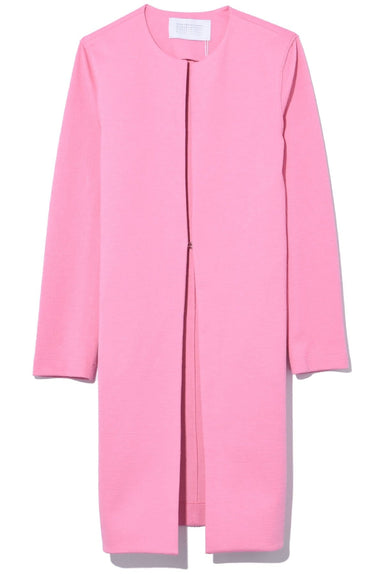 Canvas Collarless Coat in Candy