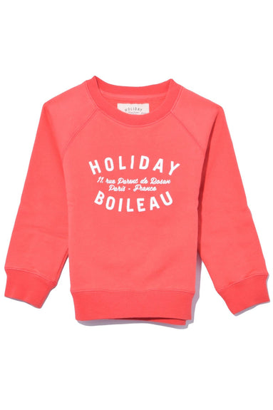Kids Sweatshirt in Red Geranium