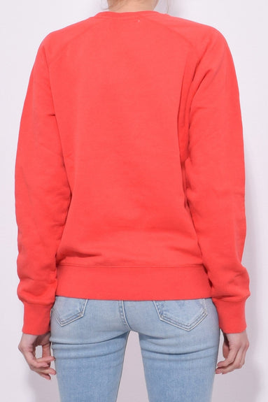 Holiday Sweatshirt in Red Geranium